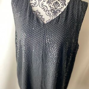 Sparkling sequin tank top.